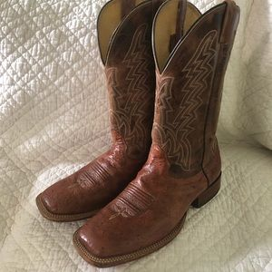 Cognac Smooth Ostrich James Montague Boots